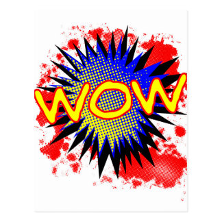 Wow Comic Exclamation Postcard