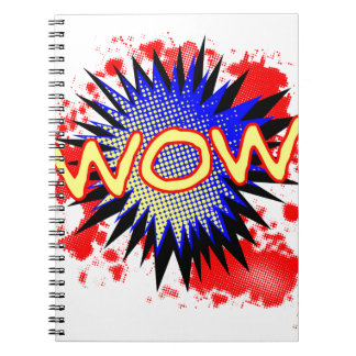 Wow Comic Exclamation Spiral Notebook