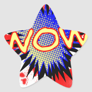 Wow Comic Exclamation Star Sticker
