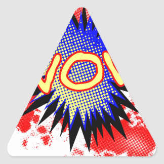 Wow Comic Exclamation Triangle Sticker