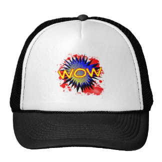 Wow Comic Exclamation Trucker Hat