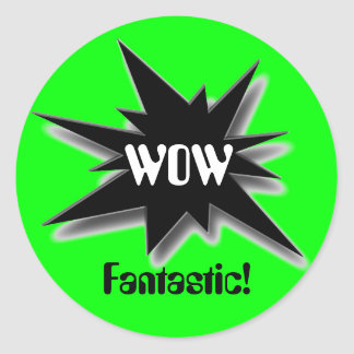 WOW, Fantastic! Round Sticker
