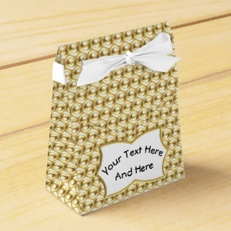 Wow Gold with Custom Text Label Favor Box