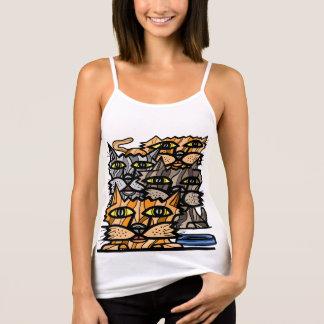 """""""Wow Meow"""" Women's Spaghetti Strap Tank Top"""