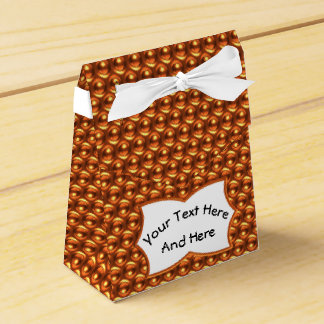 Wow Orange with Custom Text Label Favor Box