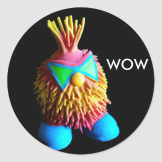 WOW ROUND STICKER