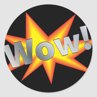 WOW! ROUND STICKER