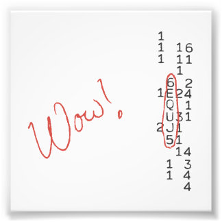 Wow Signal SETI Message Photo Print