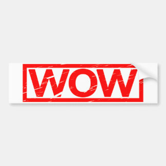 Wow Stamp Bumper Sticker