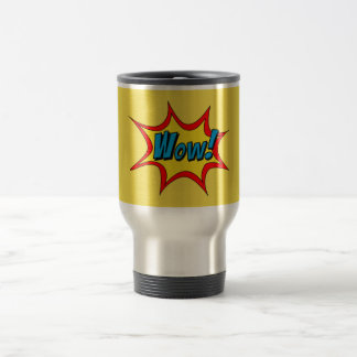 Wow Superhero word bubble Travel Mug