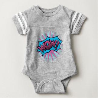 Wow Text Design Baby Bodysuit