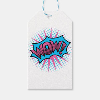 Wow Text Design Gift Tags