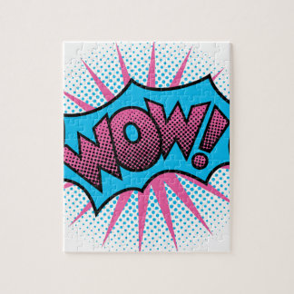 WOW! Text Design Jigsaw Puzzle