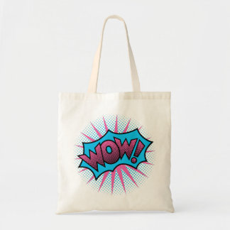 Wow Text Design Tote Bag