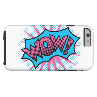 Wow Text Design Tough iPhone 6 Case