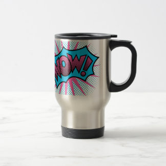 Wow Text Design Travel Mug
