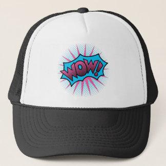 Wow Text Design Trucker Hat