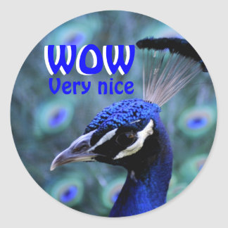 WOW very nice Round Sticker