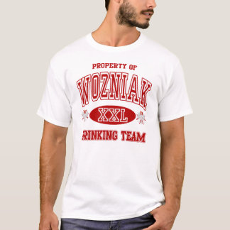 Wozniak Polish Drinking Team T-Shirt