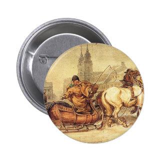 Woznica_warszawski_Sleigh Ride #2 2 Inch Round Button
