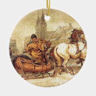 Woznica_warszawski_Sleigh Ride #2 Ceramic Ornament