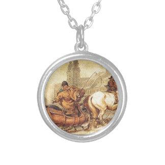 Woznica_warszawski_Sleigh Ride #2 Silver Plated Necklace