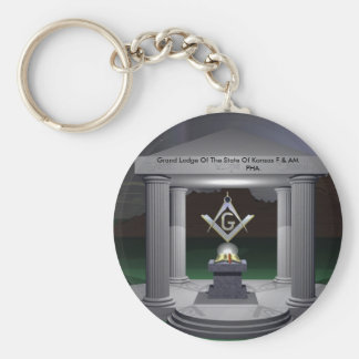WP_3,  Grand Lodge Of The State Of Kansas F & A... Basic Round Button Keychain
