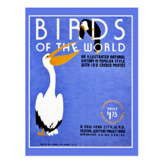WPA Birds of the World advertising Postcard