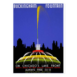 WPA - Buckingham Fountain Postcard
