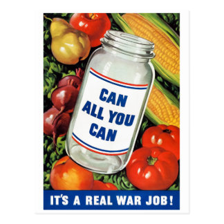 WPA- Can All You Can Postcard