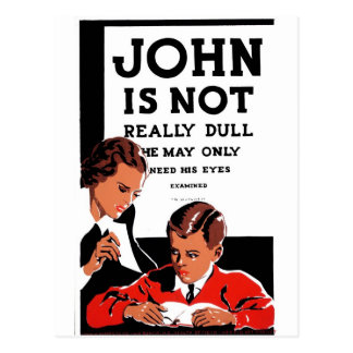 "WPA - ""John Is Not"" Postcard"