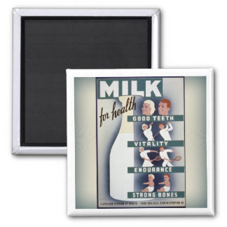 WPA Milk for Health magnet