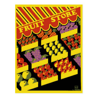 "WPA Poster - ""Fruit Store"" Postcard"