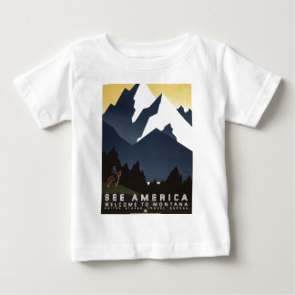 WPA Vintage Travel Poster Montana See America Baby T-Shirt