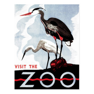 "WPA - ""Visit the Zoo"" Postcard"