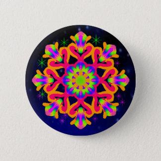 WQ Kaleidoscope Button Orange