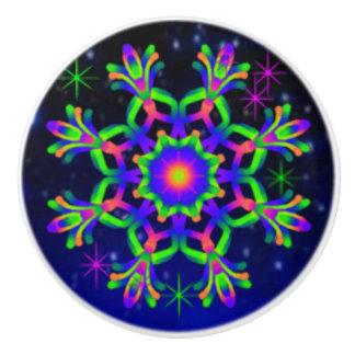 WQ Kaleidoscope Ceramic Knob Blue & Green Lovers