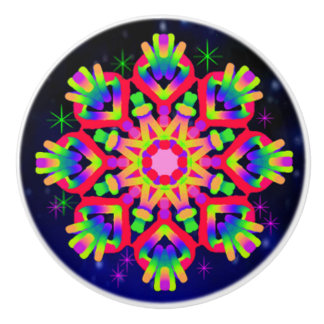 WQ Kaleidoscope Ceramic Knob for Red Lovers 2