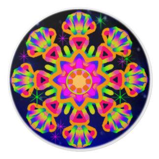 WQ Kaleidoscope Ceramic Knob Orange Lovers