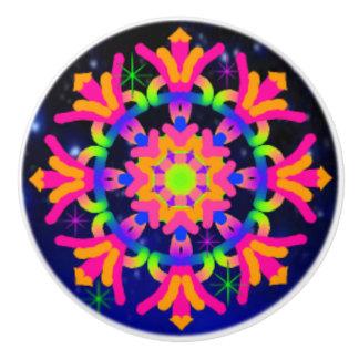 WQ Kaleidoscope Ceramic Knob PINK & Orange Lovers