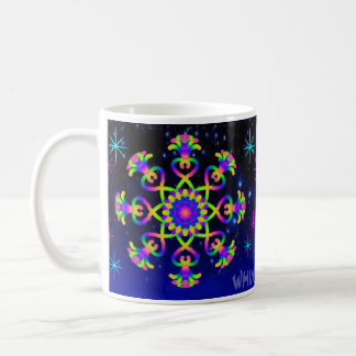 WQ Kaleidoscope Coffee Mug  Cup in Rainbow Colors