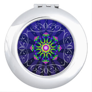 WQ Kaleidoscope Compact Mirror Burst Series No.2