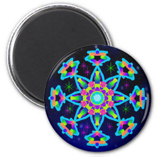 WQ Kaleidoscope Magnet Round Baby Blue Lovers