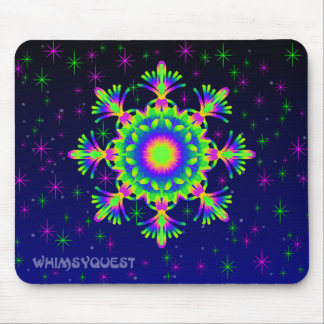 WQ Kaleidoscope Mouse Pad in Green and Yellow