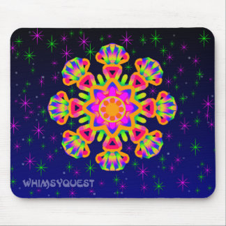WQ Kaleidoscope Mouse Pad in Orange