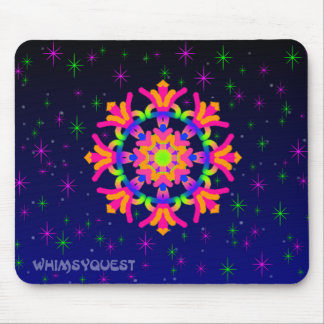 WQ Kaleidoscope Mouse Pad  in Orange and Pink