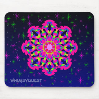 WQ Kaleidoscope Mouse Pad in Pink Jewel
