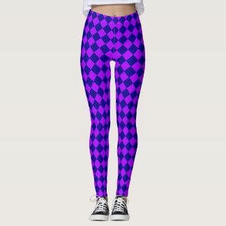 WQ Posh Series Leggings Harlequin Look Pink & Blue