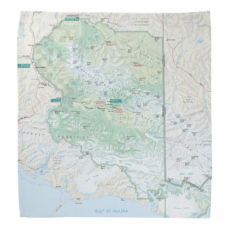 Wrangell-St. Elias map bandana