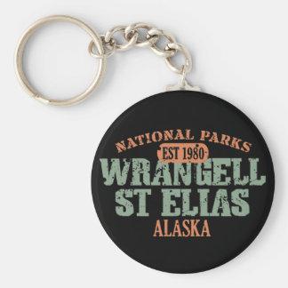 Wrangell St Elias National Park Basic Round Button Keychain